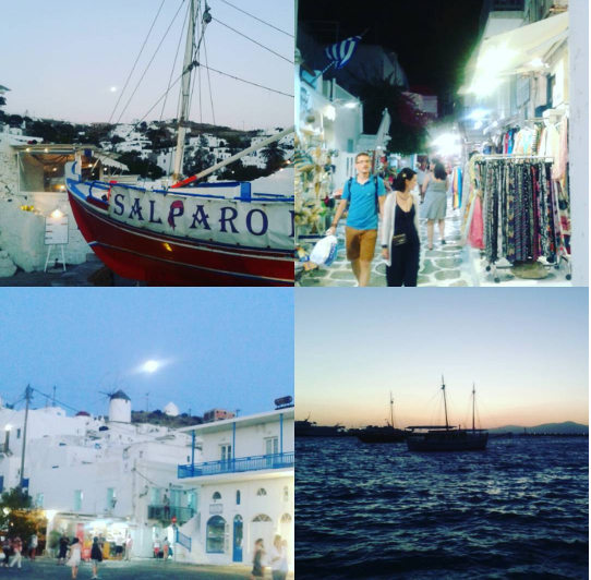 Mykonos collage